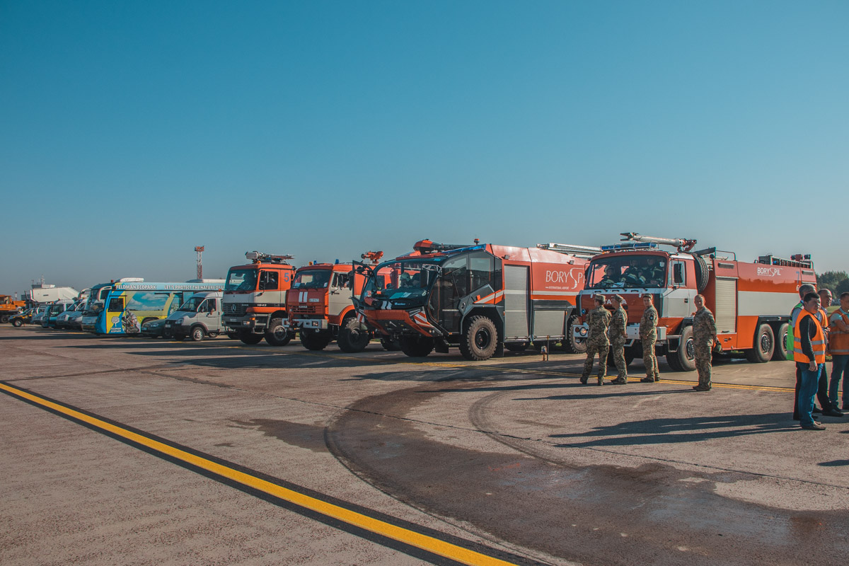 """В международном аэропорту """"Борисполь"""" прошли полномасштабные учения"""