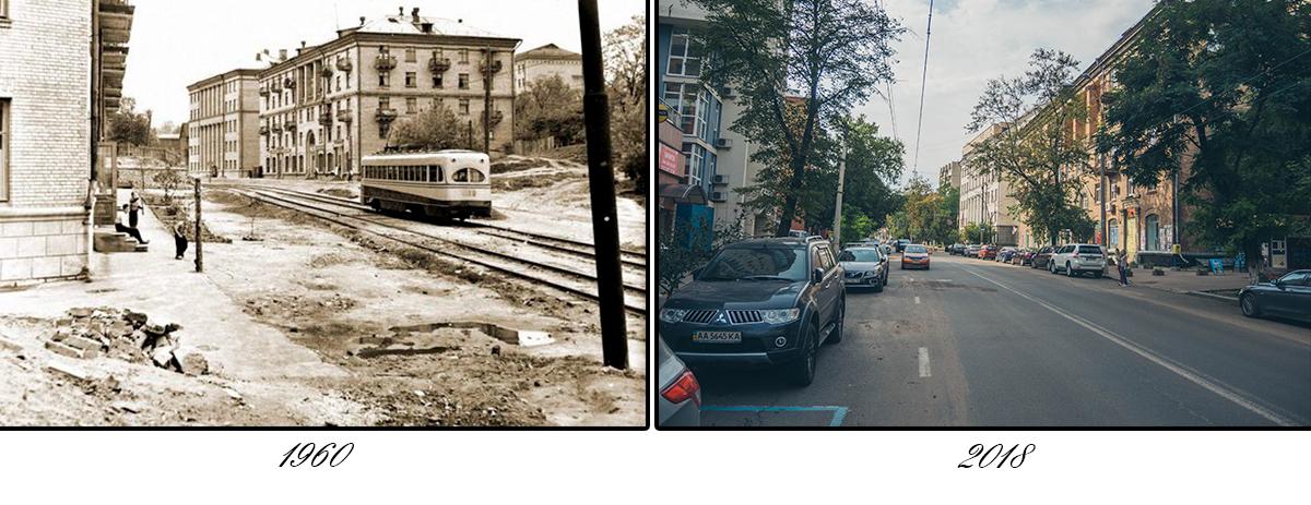 """Из-за проложенной здесь в 1946 году трамвайной линии № 4, улица обрела название """"4-го трамвайного маршрута"""""""