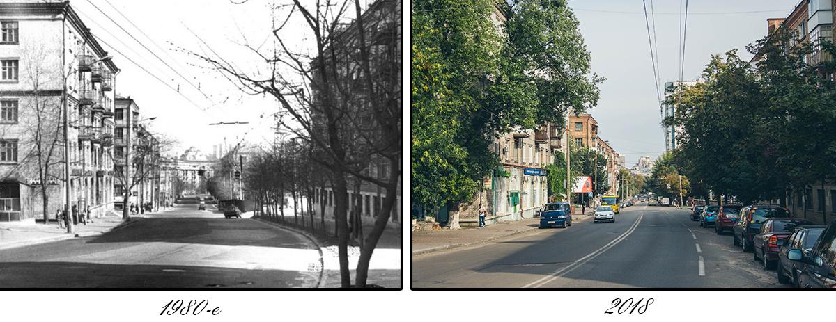 Такой, как на фото слева, мы уже никогда не увидим эту местность