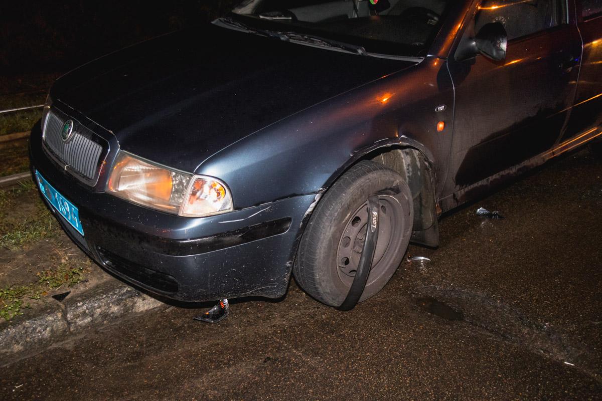 Авария произошла приблизительно в 00:30