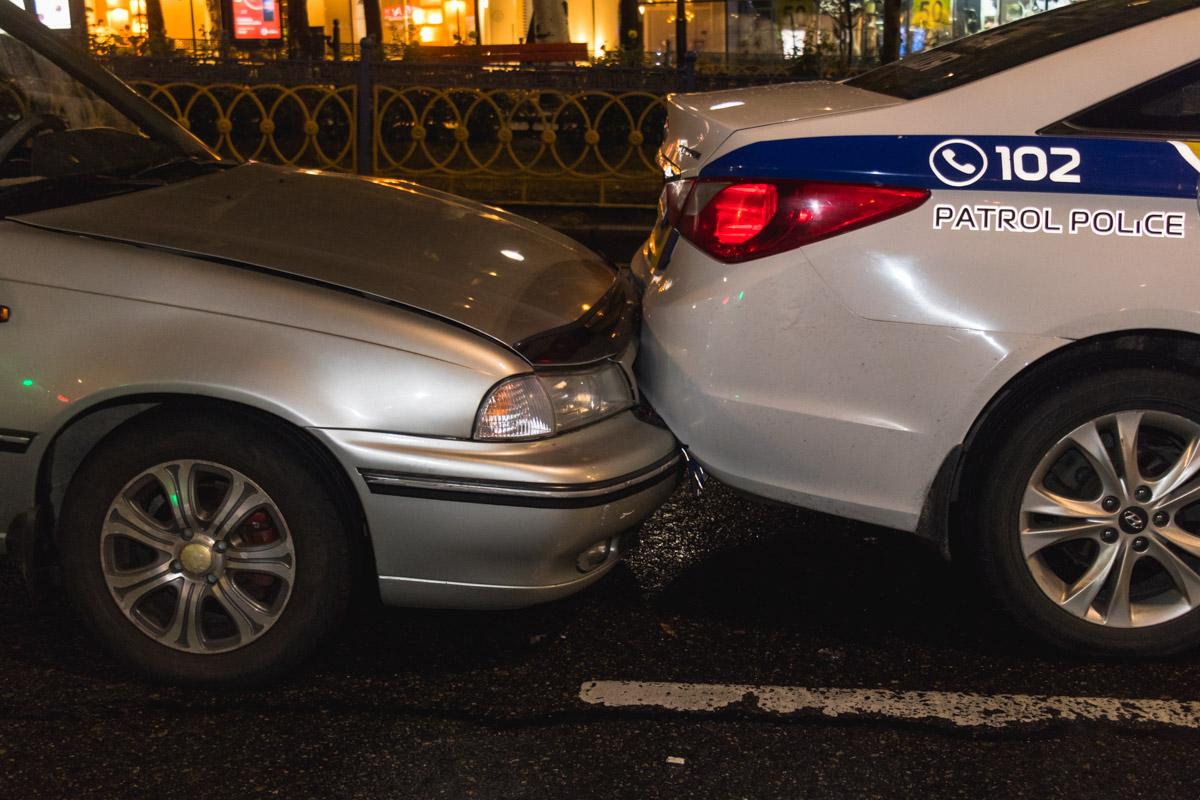 Авария произошла приблизительно в 21:30