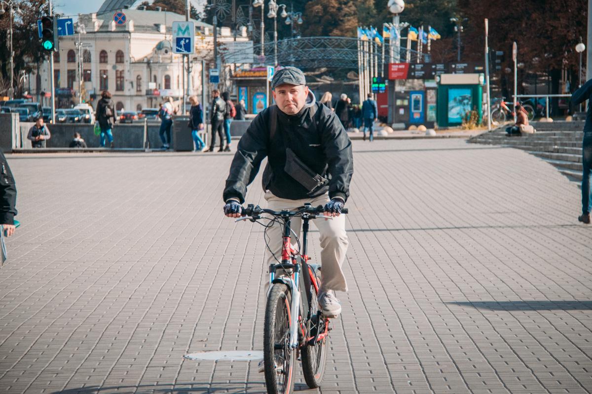 На велосипеде - теплее, чем пешком