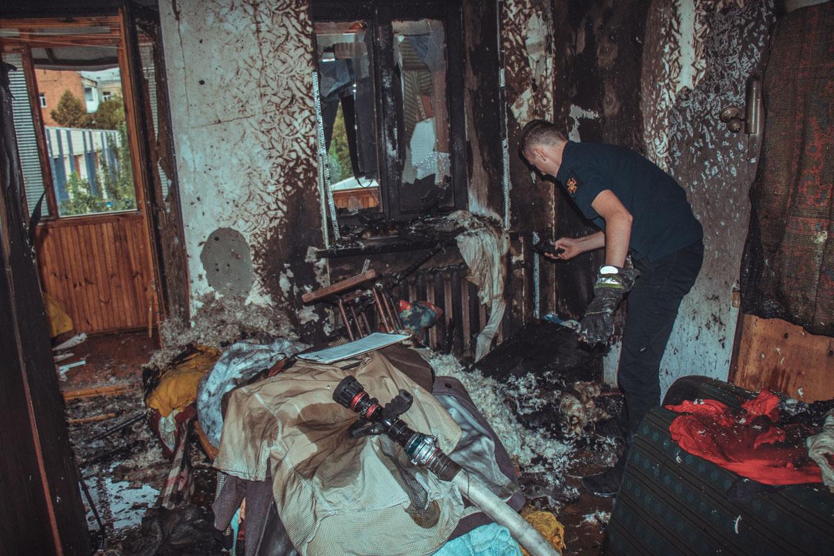 Площадь пожара составила 15 квадратных метров