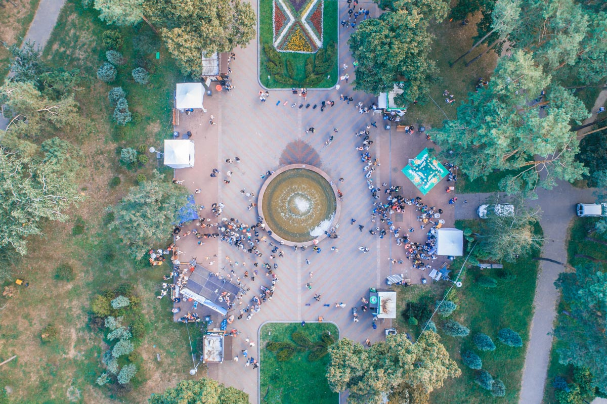 Парк Победы с высоты