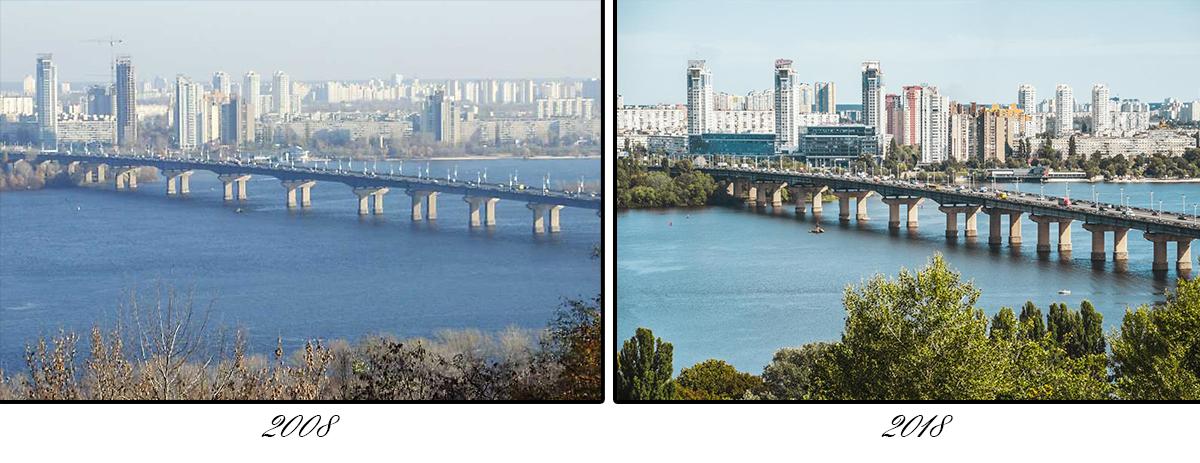 В 2009 году была реконструирована транспортная развязка на левобережном въезде на мост Патона