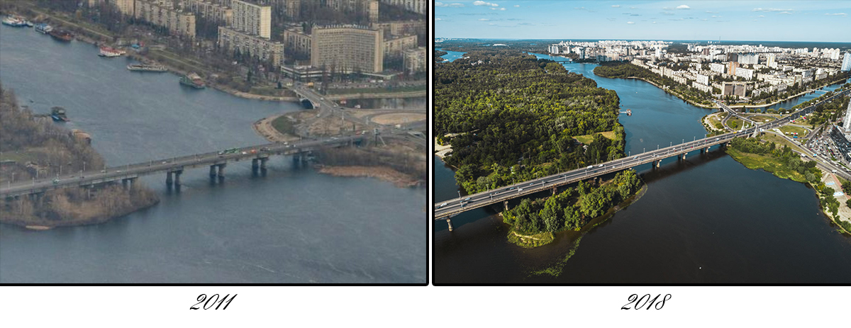 Строительство моста было начато в 1940 году и продолжалось 13 лет