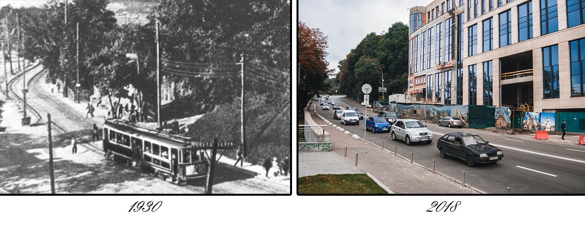 Владимирским спуск стал в 1944 году благодаря расположенному памятнику киевскому князю Владимиру
