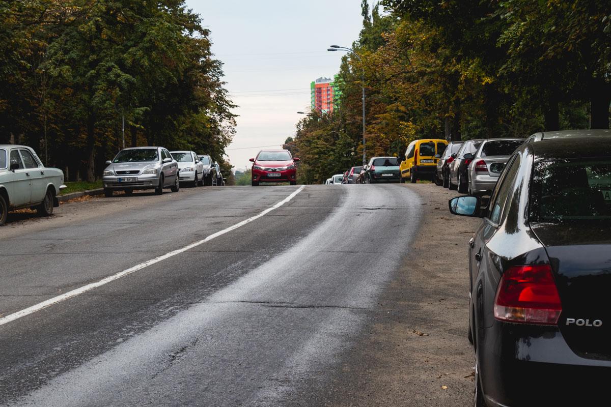 13 сентября в Киеве часть улицы Гарматной превратилась в «каток»