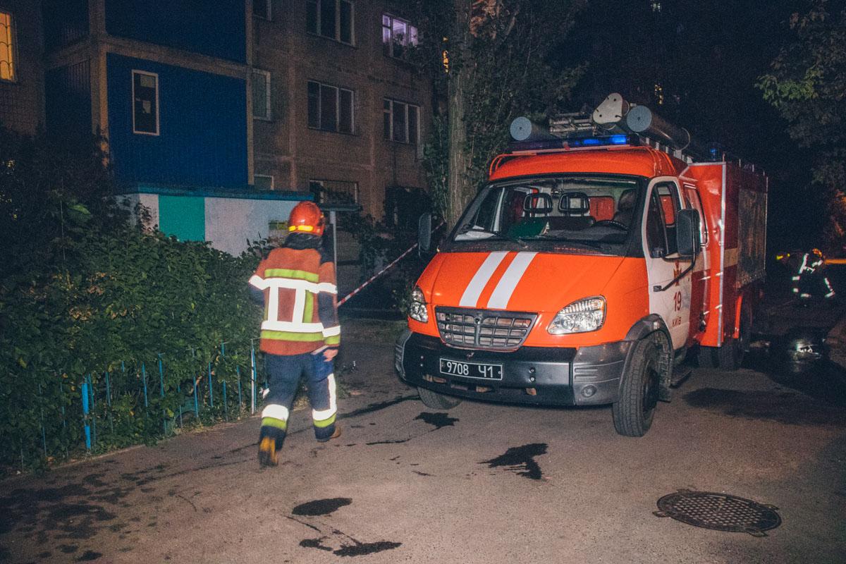 На ликвидацию огня у пожарных ушло около часа