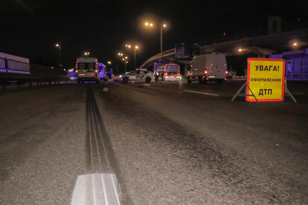 Тормозной путь Mercedes составил около 30 метров