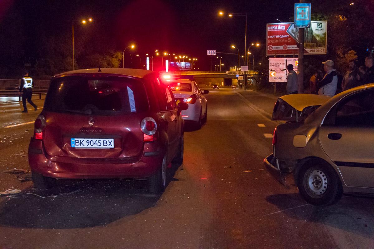 Lanos врезался в Renault