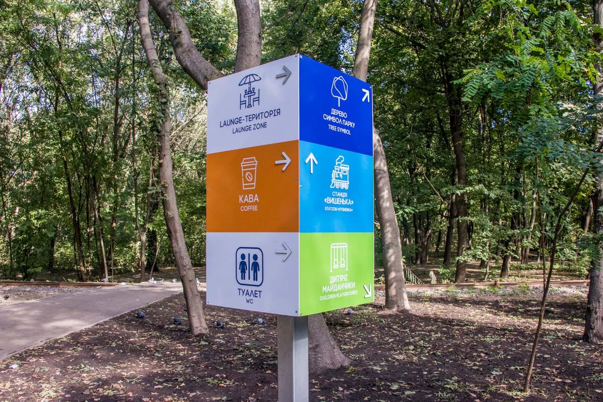 Информационные тумбы помогут не потеряться в парке