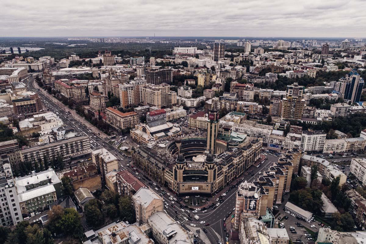 Серое небо над столицей