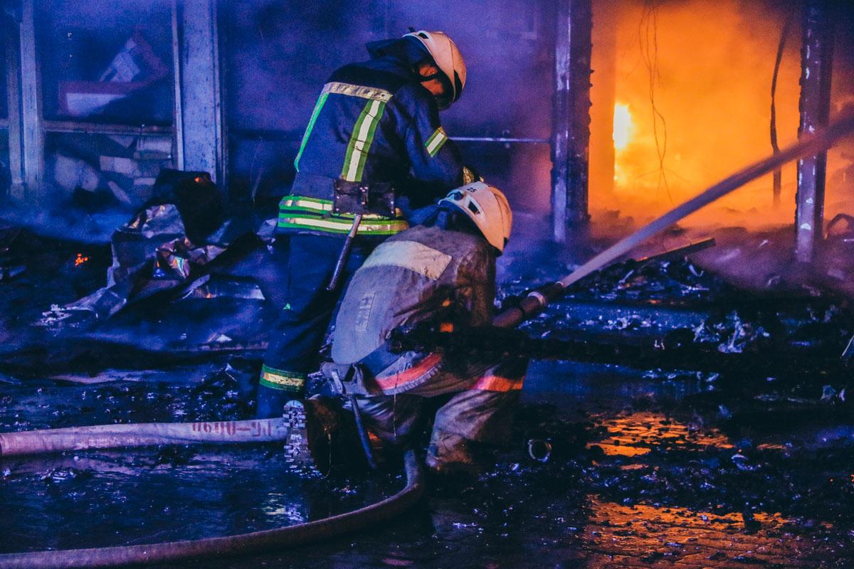 Площадь огня составила 200 квадратных метров