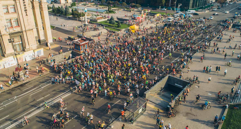 В центре столицы собрались больше 1500 велосипедистов