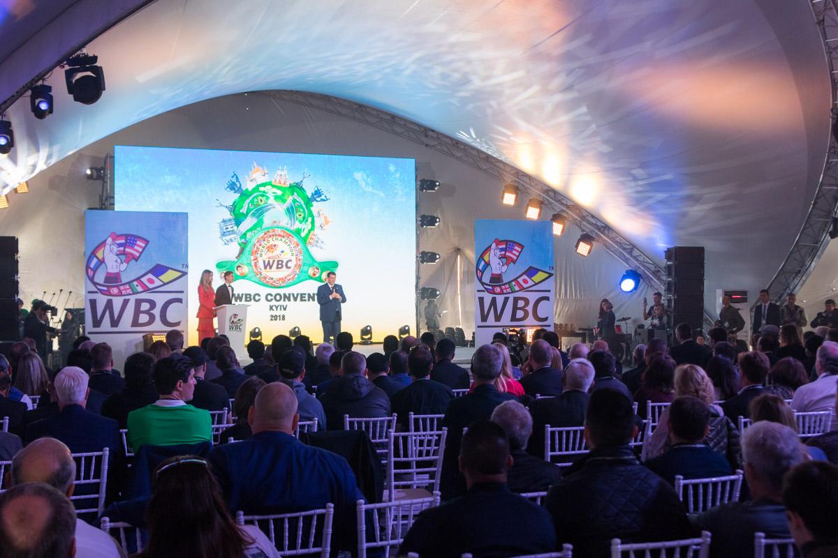 Президент WBC приветствует гостей конгресса