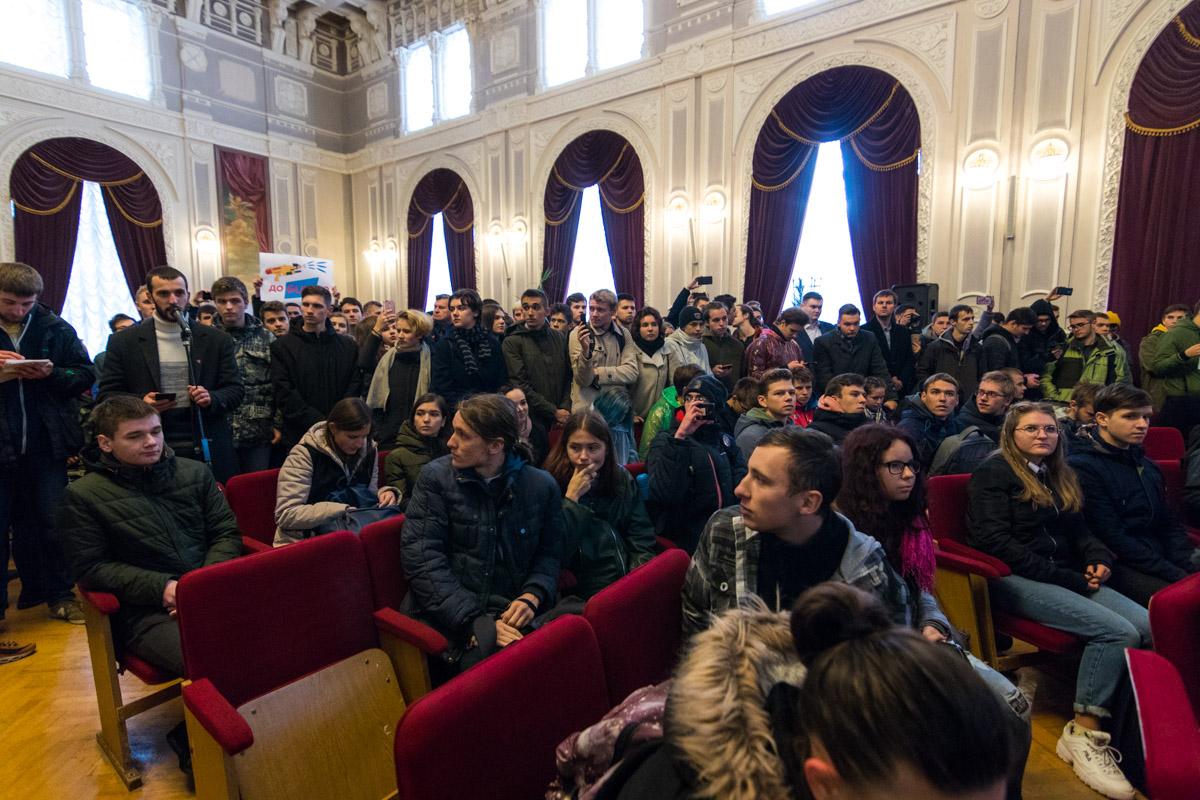 В итоге встреча со студентами состоялась в здании первого корпуса КПИ