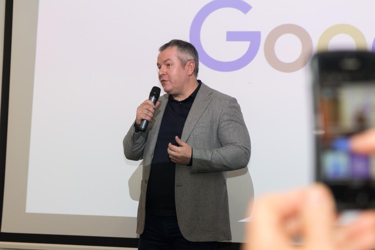 На презентации был директор по вопросам взаимодействия с органами власти Google Украина Олег Якимчук