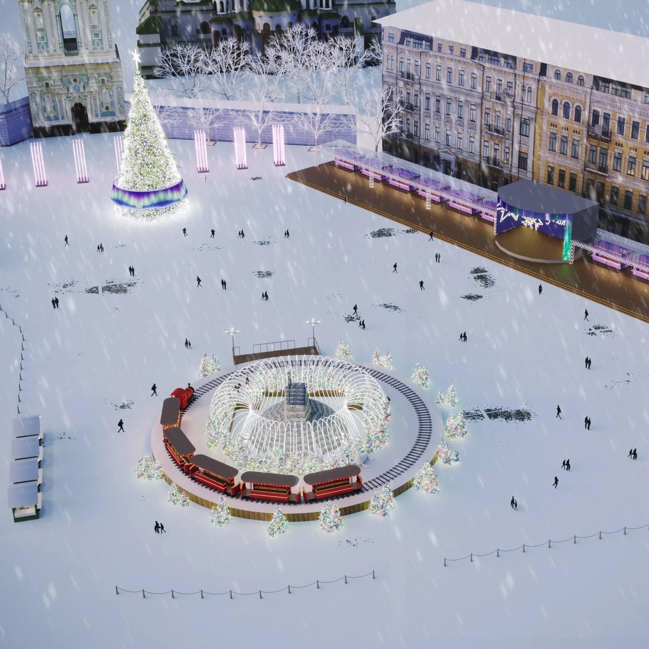 Главную елку страны разместят на Софийской площади