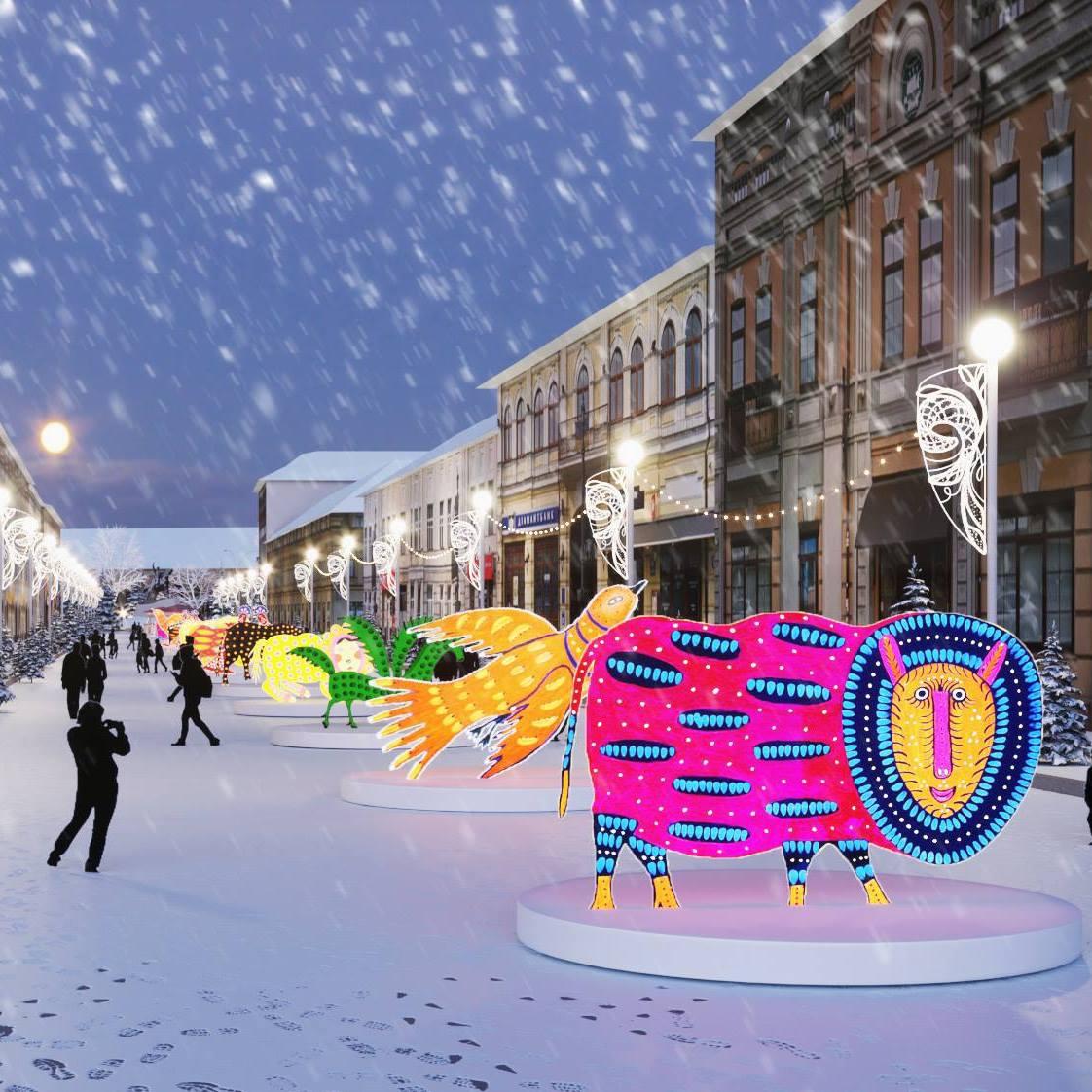 Пример оформления улицы Петра Сагайдачного