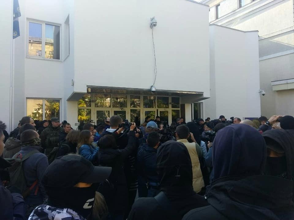 В Киеве активисты организации С14 под зданием МВД