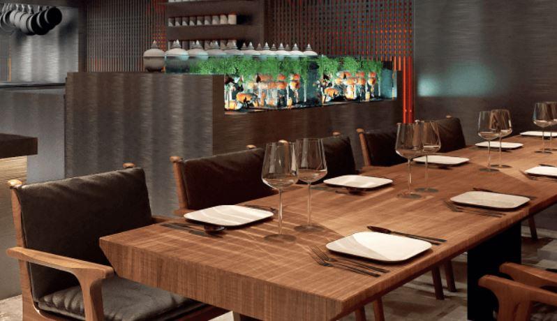 Интерьер ресторана восточной кухни Spicy NoSpicy