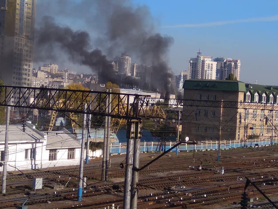 Дым был виден с разных точек города