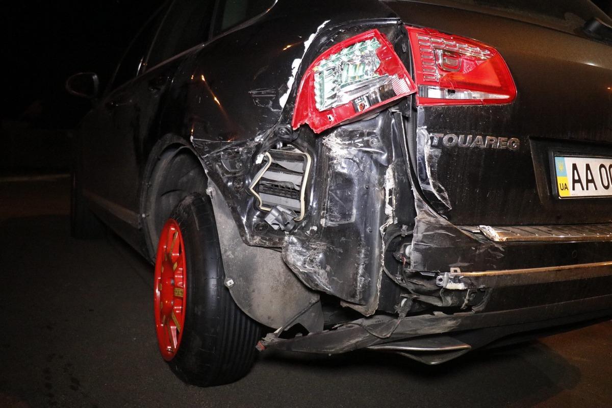 На резкое торможение Volkswagen не успел среагировать Hyundai
