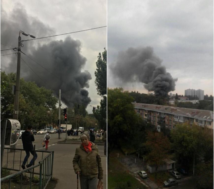 По адресу проспект Отрадный, 95в произошел сильный пожар