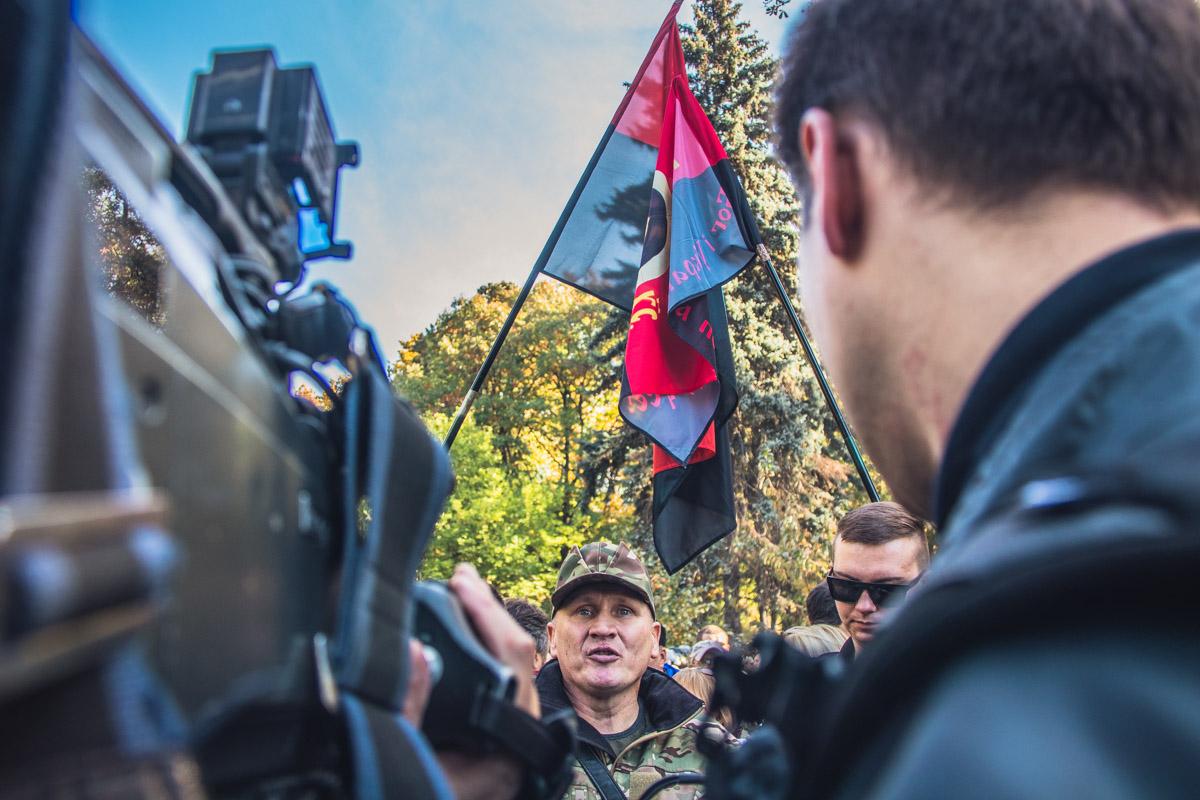 Данную акцию ранее анонсировал в своем Facebook лидер добровольческого движения «ОУН» Николай Коханивский