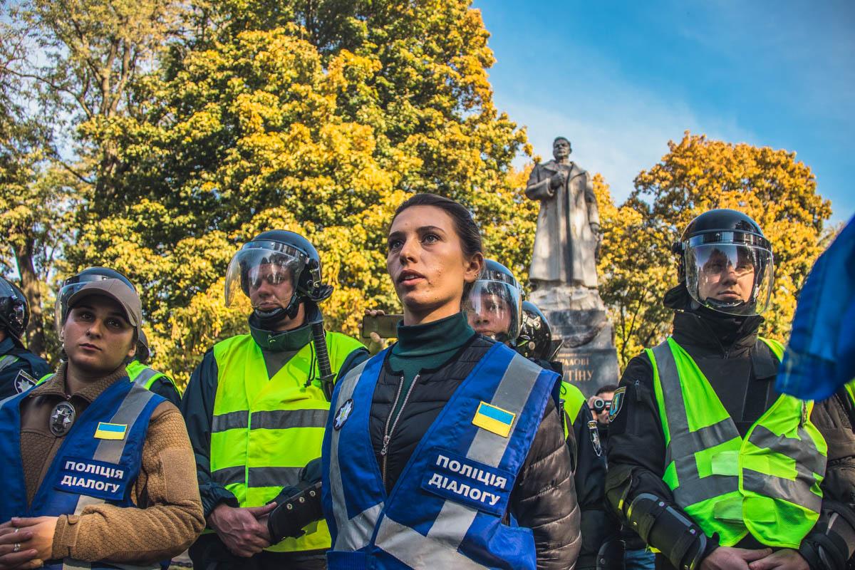 Полиция диалога пыталась предотвратить акт вандализма