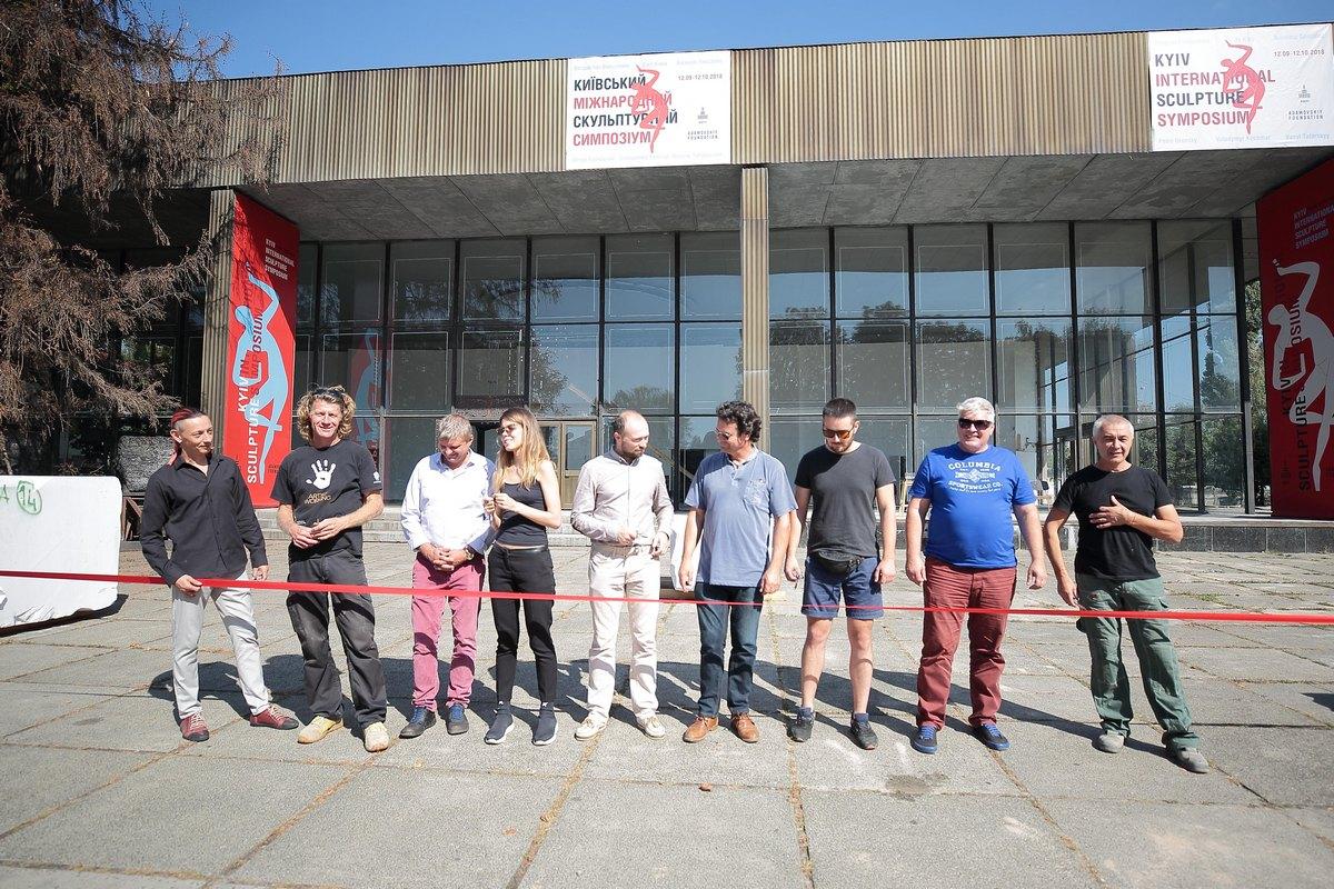 В течение месяца в Киеве проходит скульптурный симпозиум