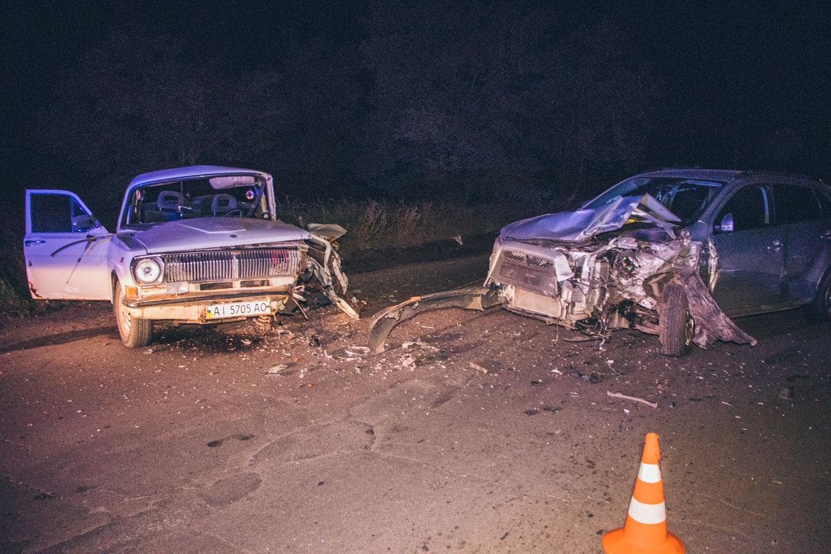 """3 октября, на улице Пуховской произошло лобовое ДТП с участием Mitsubishi ASX и """"Волга 2401"""""""