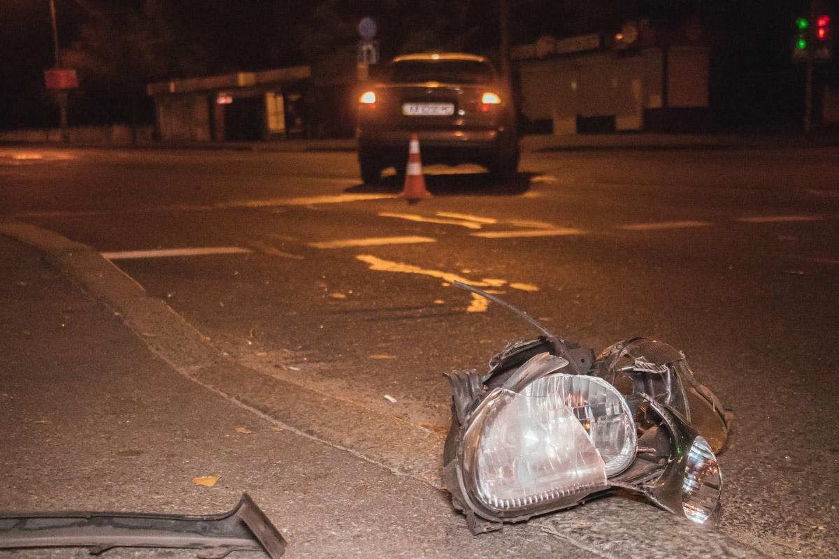 В Киеве 22 октября на бульваре Перова произошло ДТП