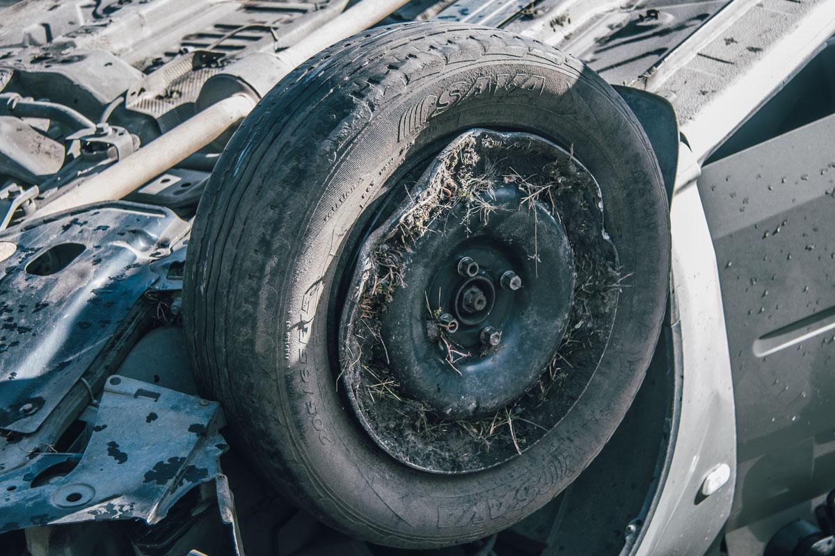 Lada врезалась в Fiat и перевернулась