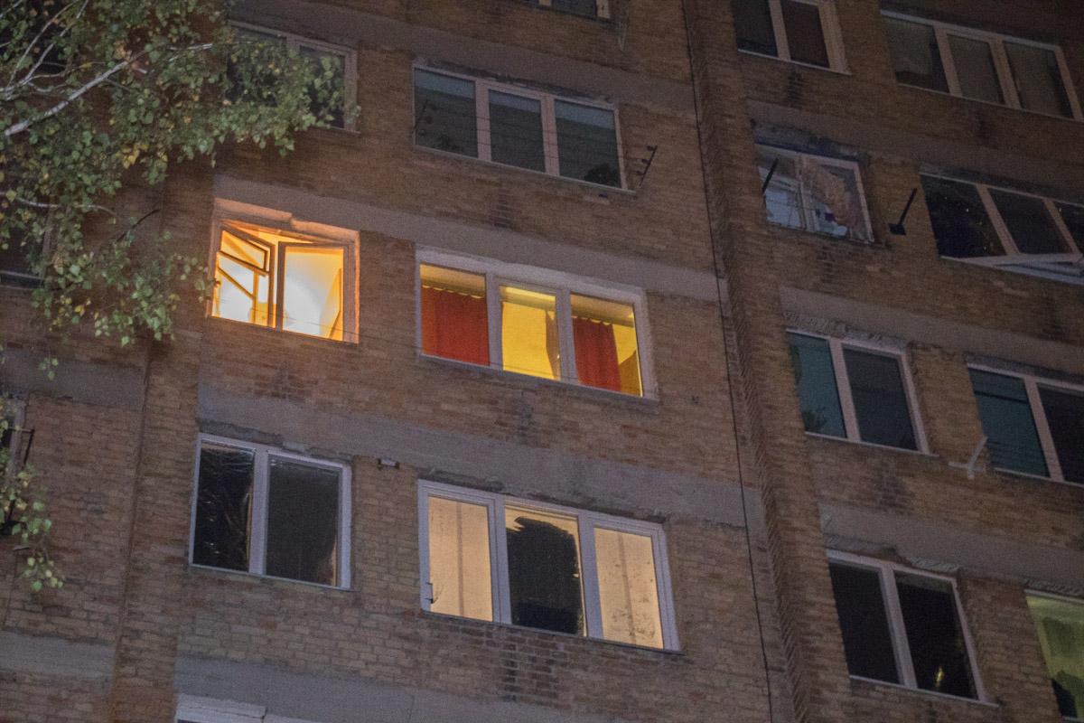 На Борщаговке произошел взрыв в девятиэтажном доме