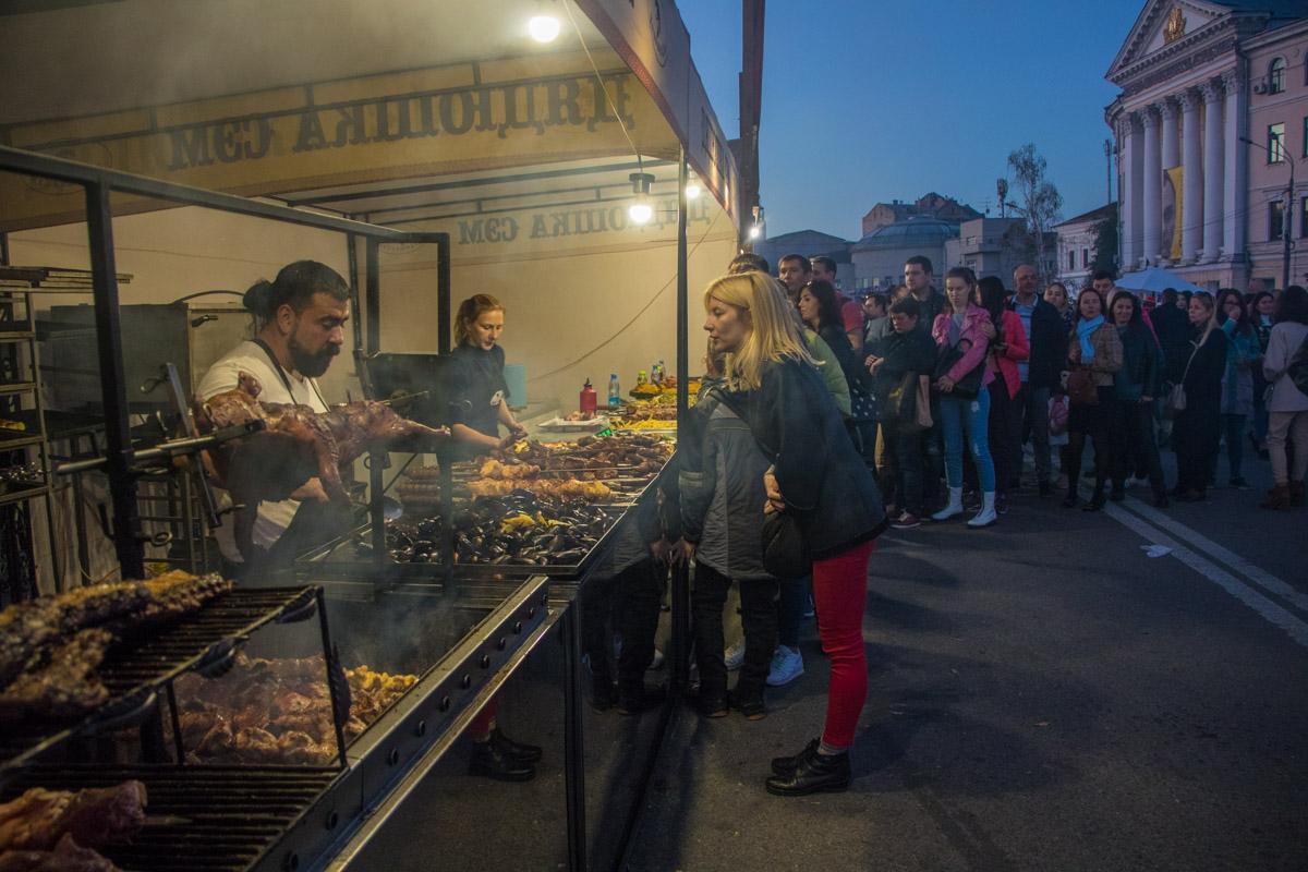 На мероприятии был открыт фудкорт с разнообразной уличной едой