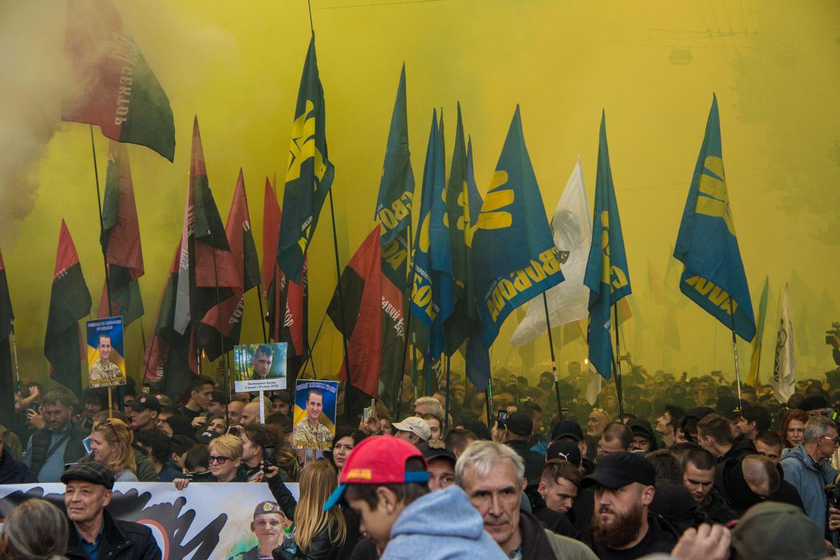 В марше приняли участие около 40 тысяч активистов