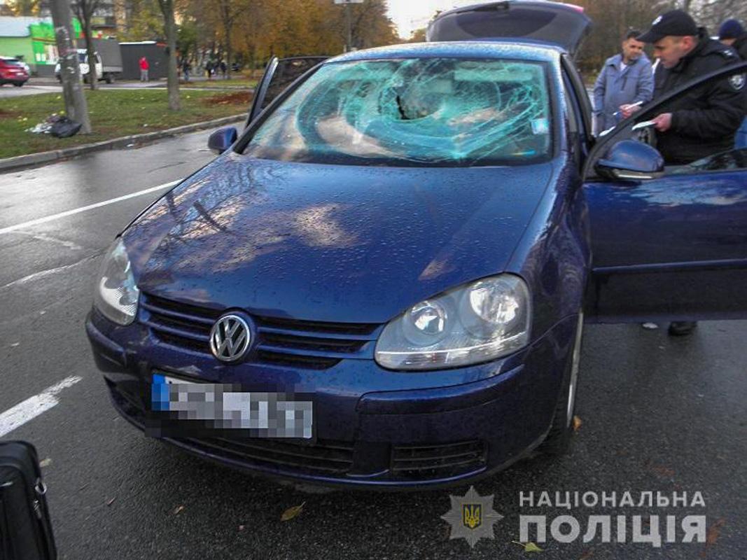 ВКиеве очевидцы помогли задержать разбойника намашине
