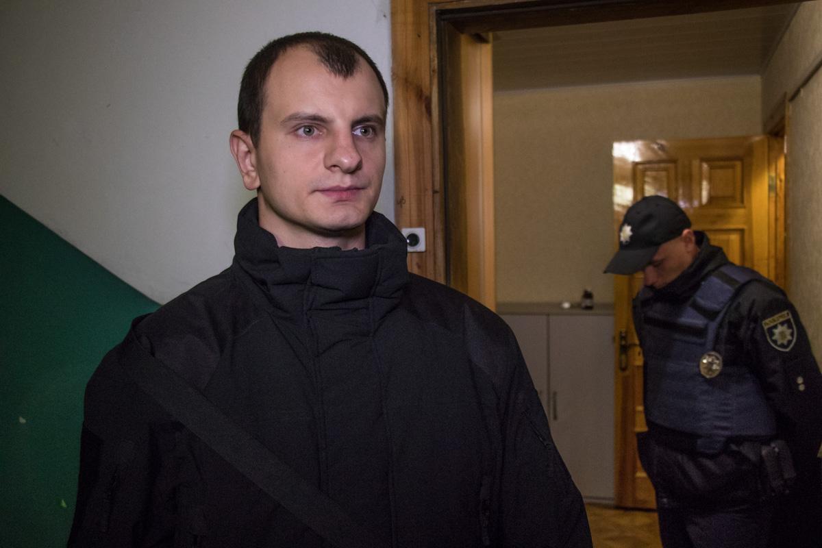 К месту инцидента прибыл лидер C14 Евгений Карась
