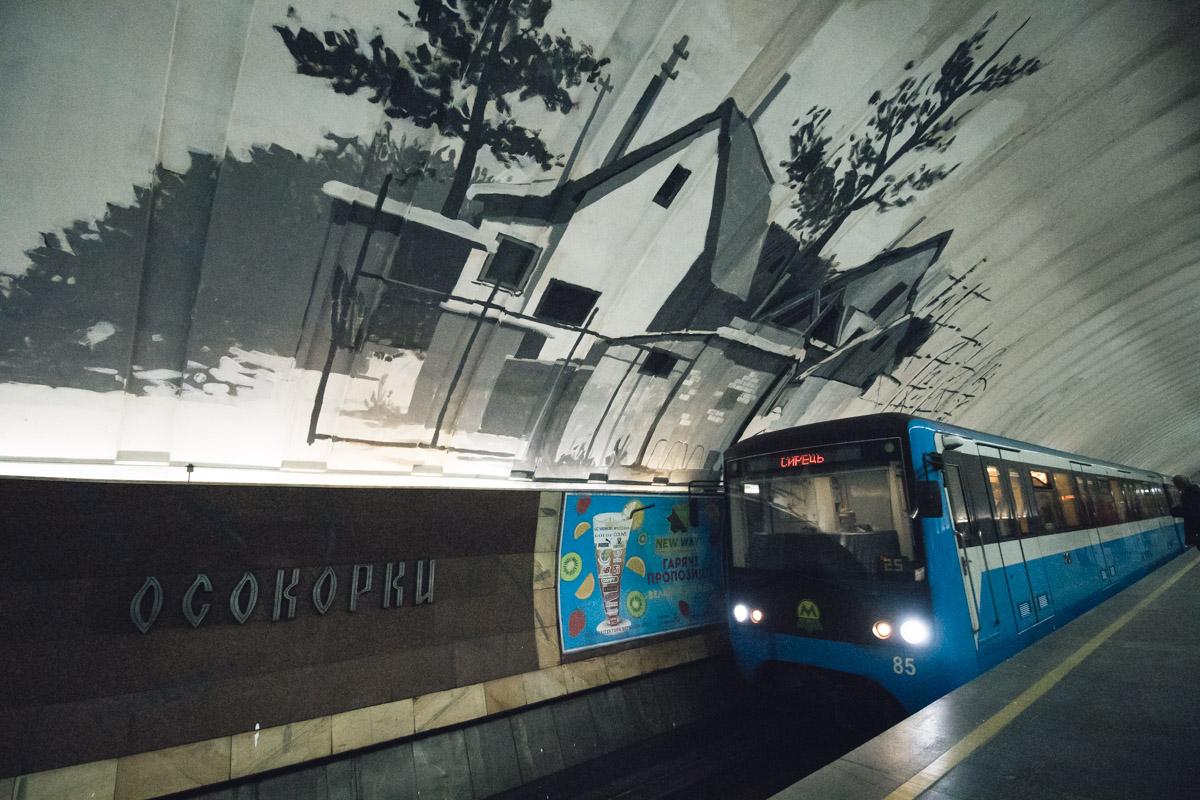 """За ночь на станции """"выросли"""" деревья и дома"""