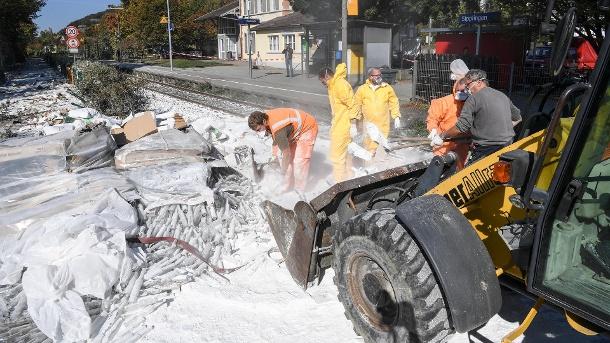 В Германии при столкновении грузовика с поездом ранены 17 человек