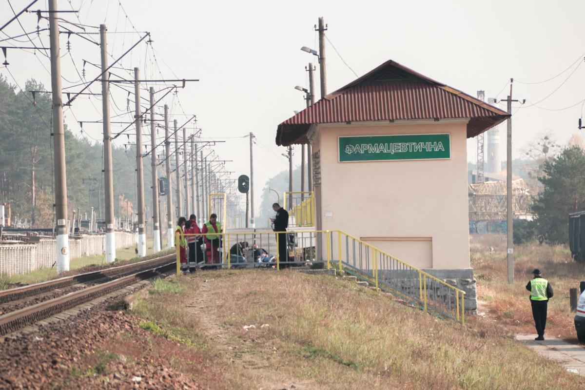 В Киеве на железнодорожной станции «Фармацевтическая» поезд сбил мужчину