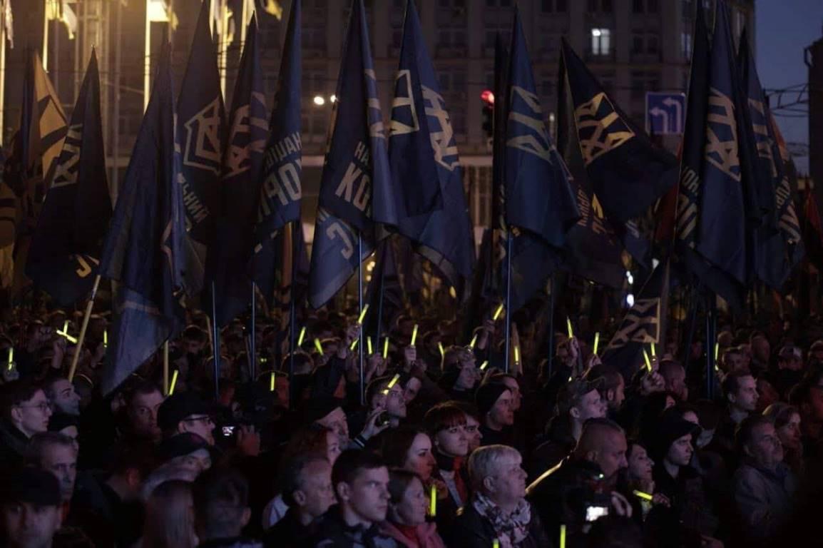 Участники марша 76-й годовщины создания УПА установили рекорд Украины