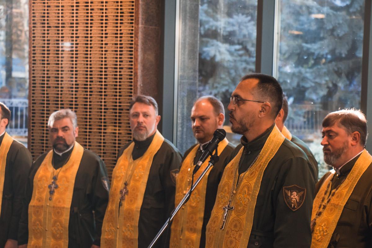 На открытии были и представители духовенства