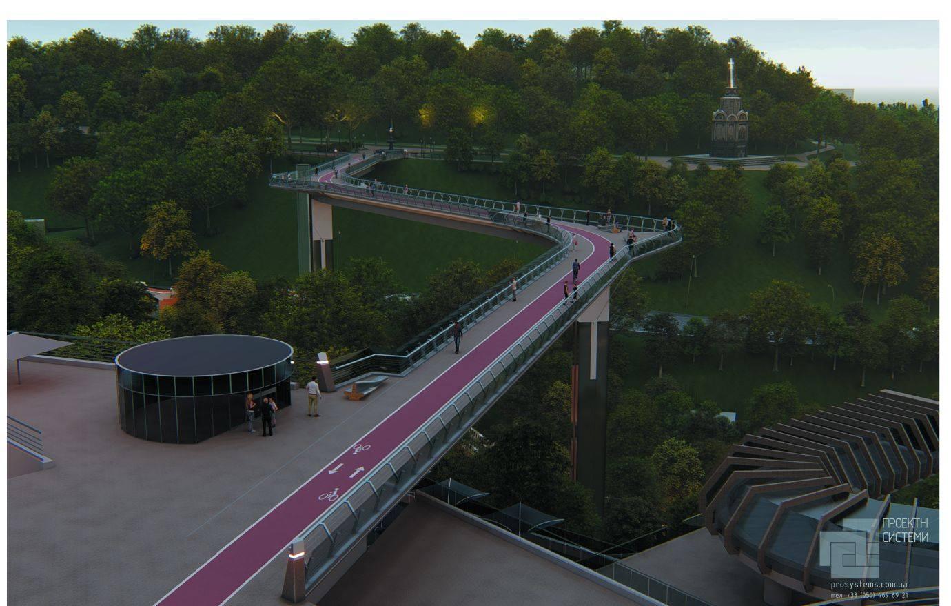 между парками «Крещатый» и «Владимирская горка» появится пешеходный мост