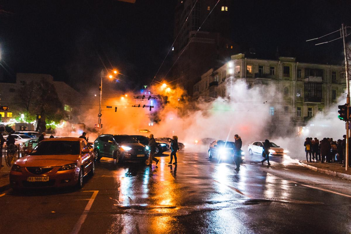 Улицу Шота Руставели залило кипятком