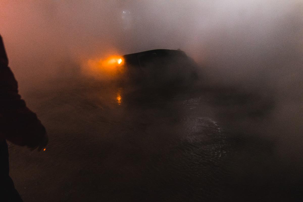 """Водитель рассказал, чтоехал по улице Саксаганского со стороны """"Дворца Спорта"""""""