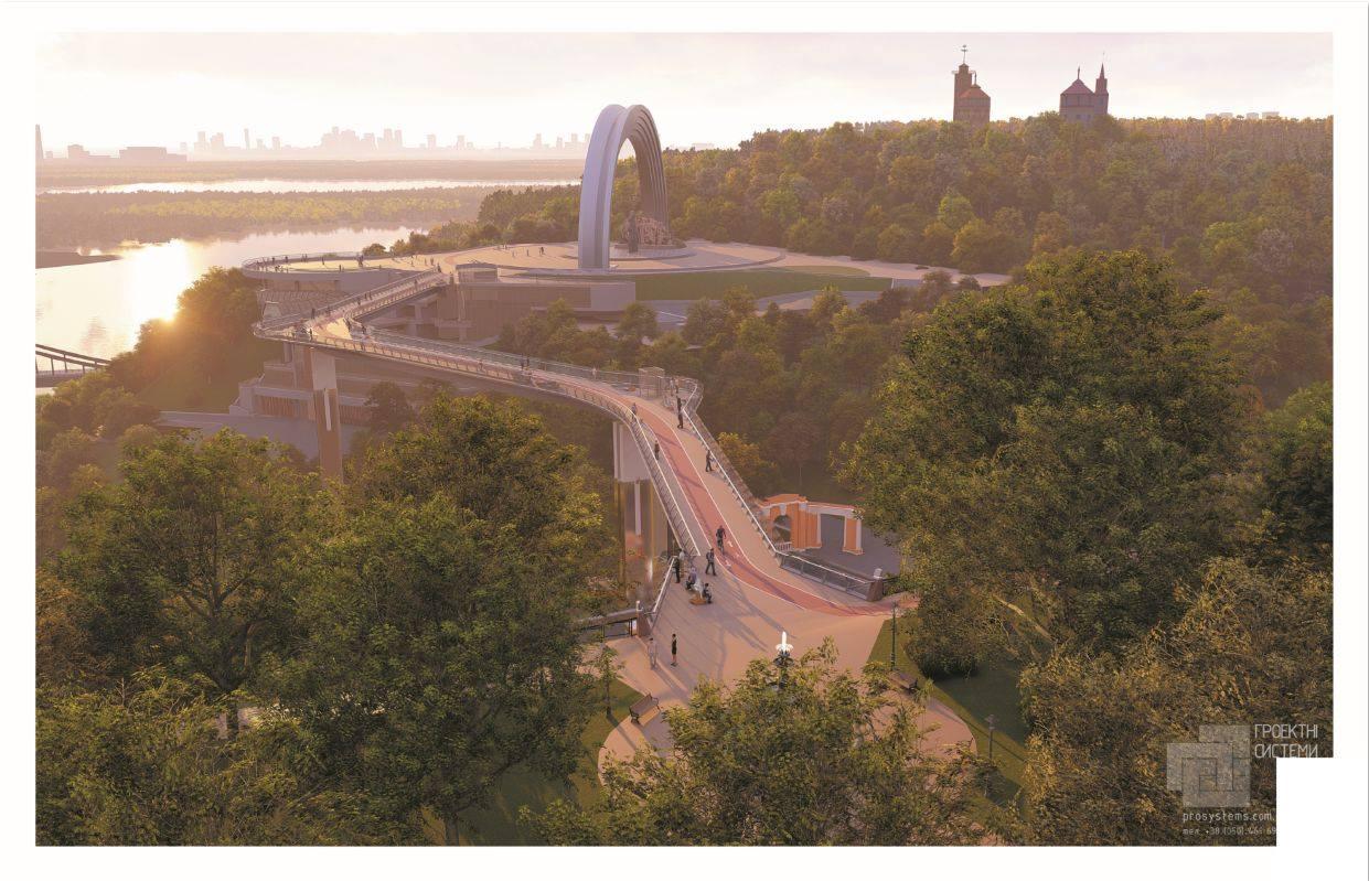 Длина моста составит 210 метров