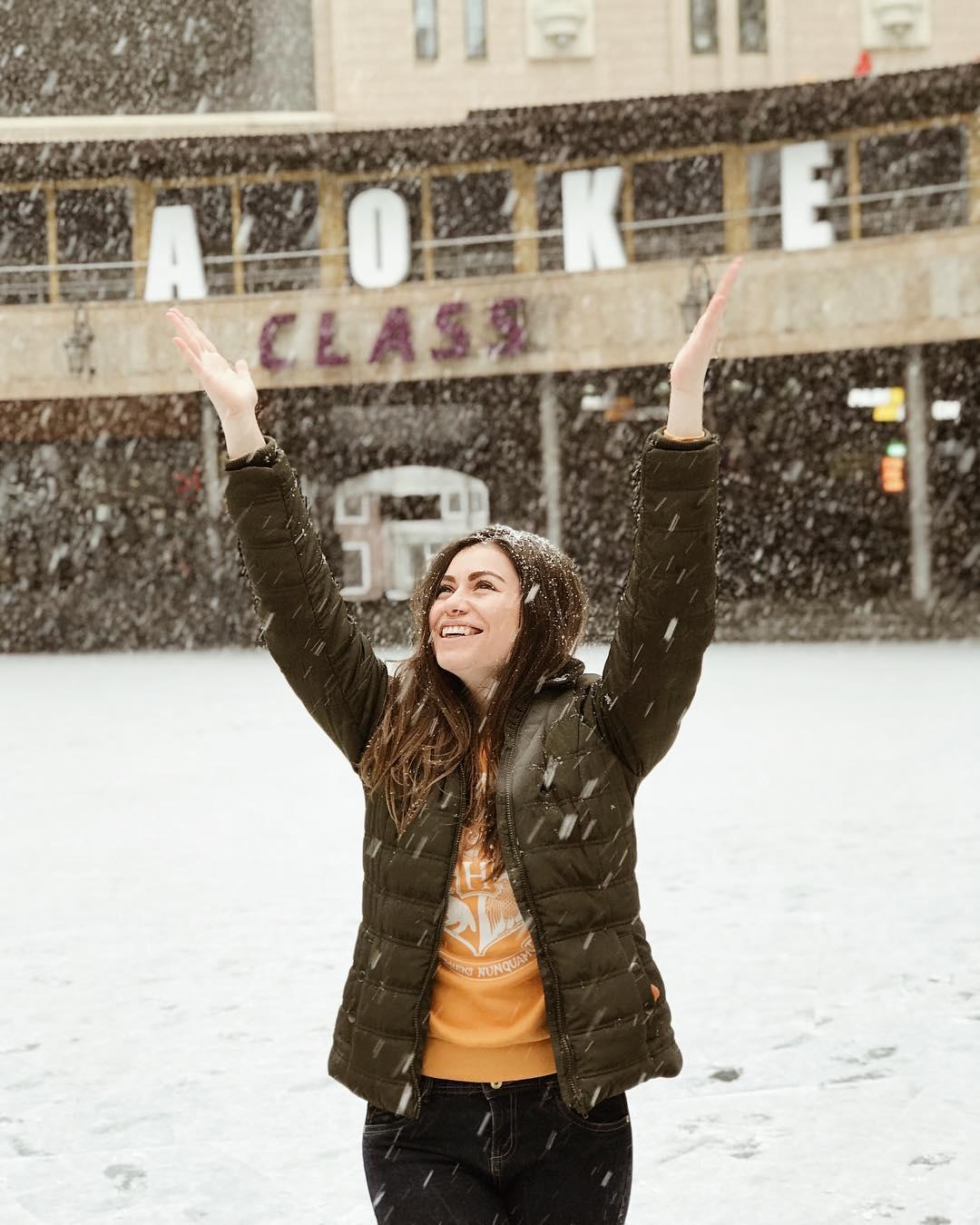 Первый снег! Ура! Фото: @al_malinovna